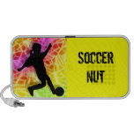 Soccer Player & Fluorescent Mosaic iPhone Speaker