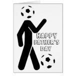 soccer player, Happy Father's Day Greeting Card
