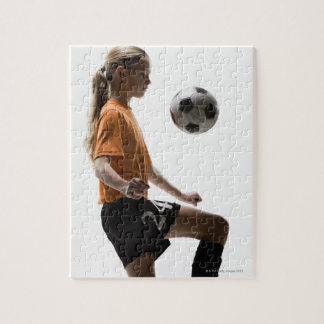 Soccer player jigsaw puzzle