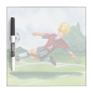 Soccer Player Kicking a Ball by Jay Throckmorton Dry-Erase Boards