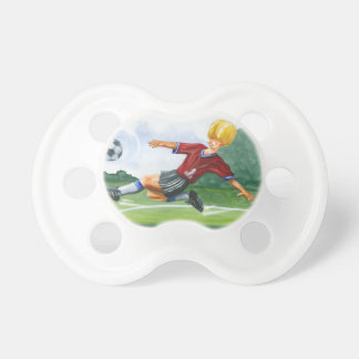 Soccer Player Kicking a Ball by Jay Throckmorton Pacifiers