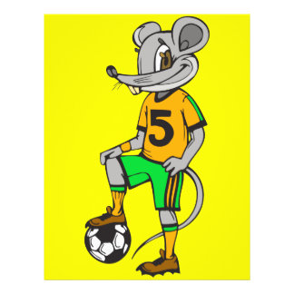 Soccer Player Mouse 21.5 Cm X 28 Cm Flyer
