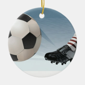 Soccer Player Ornament Template