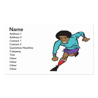 Soccer Player Pack Of Standard Business Cards