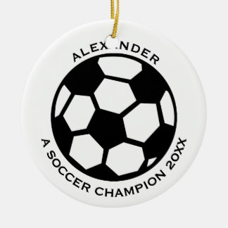 Soccer Player Personalized Round Ceramic Decoration