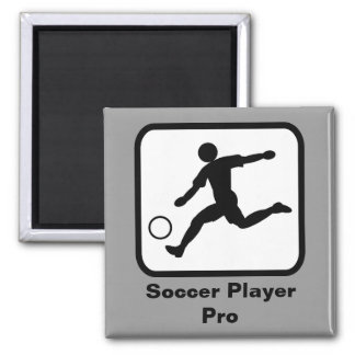 Soccer Player Pro Square Magnet