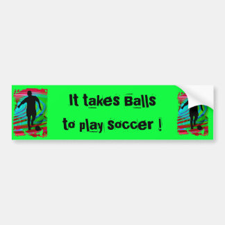 Soccer Player & Radical Rainbow Bumper Stickers