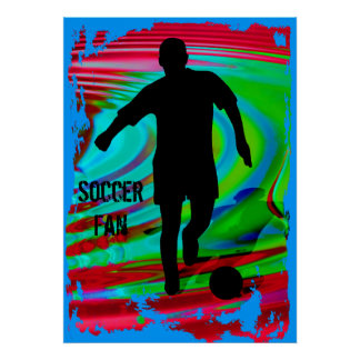 Soccer Player & Radical Rainbow Poster