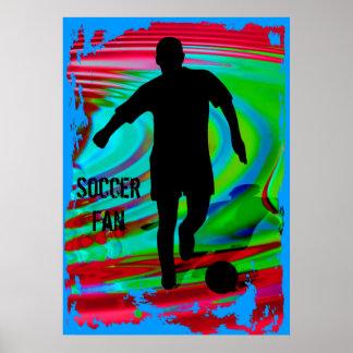 Soccer Player & Radical Rainbow Poster