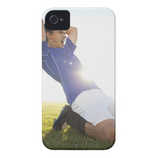 Soccer player throwing ball Case-Mate iPhone 4 case