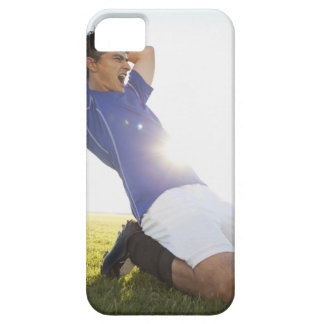 Soccer player throwing ball iPhone 5 cover