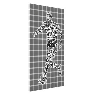 Soccer Player Typography Box Canvas