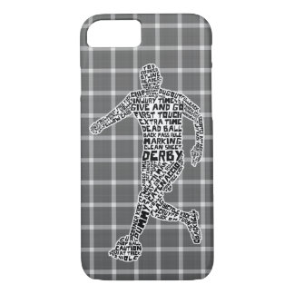 Soccer Player Typography iPhone 8/7 Case