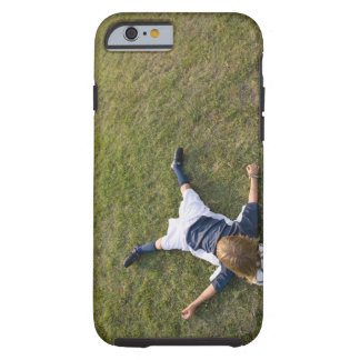 Soccer player with head on football tough iPhone 6 case
