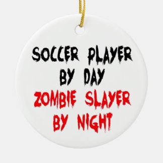 Soccer Player Zombie Slayer Christmas Ornament
