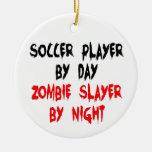 Soccer Player Zombie Slayer Christmas Tree Ornament