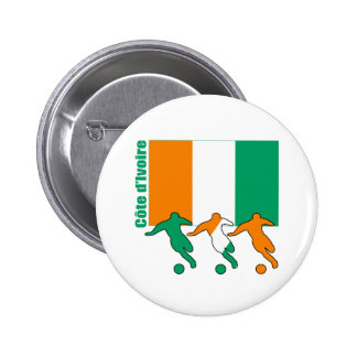 Soccer Players - Cote d'Ivoire 6 Cm Round Badge