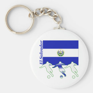 Soccer Players - El Salvador Basic Round Button Key Ring