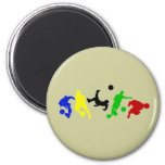 Soccer players   football sports fan 6 cm round magnet
