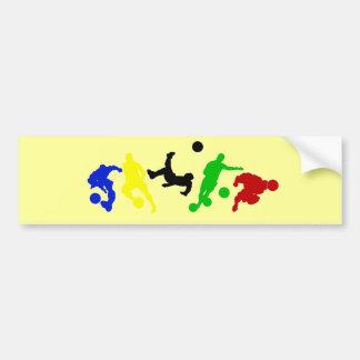Soccer players   football sports fan bumper sticker
