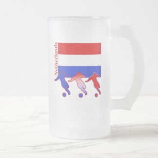 Soccer Players - Netherlands Frosted Glass Mug