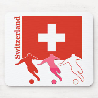 Soccer Players - Switzerland Mouse Pad