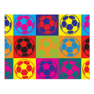 Soccer Pop Art Postcard