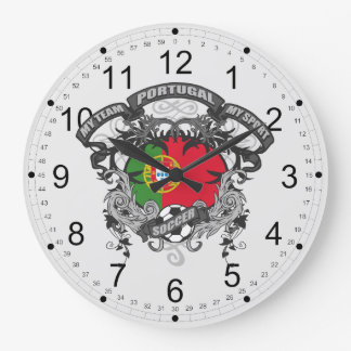 Soccer Portugal Large Clock