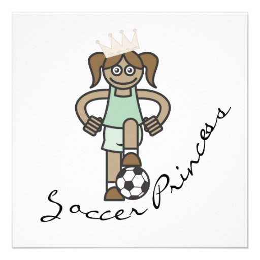 Soccer Princess T-shirts and Gifts Personalized Announcements