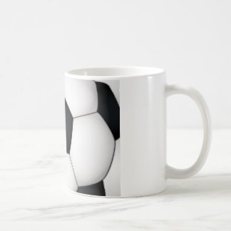 Soccer print close up coffee mug