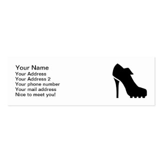 Soccer pumps pack of skinny business cards