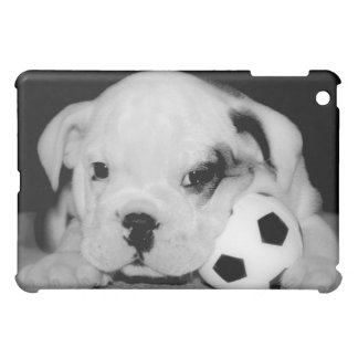 """Soccer Puppy"" English Bulldog iPad Mini Cases"