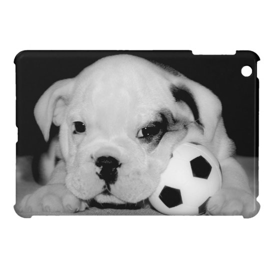 """Soccer Puppy"" English Bulldog Photography iPad Mini"