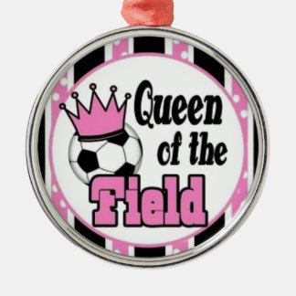 soccer queen of the field christmas ornament