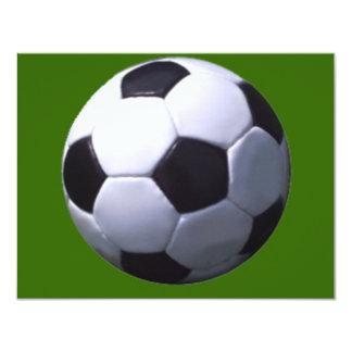 Soccer Real Football 11 Cm X 14 Cm Invitation Card