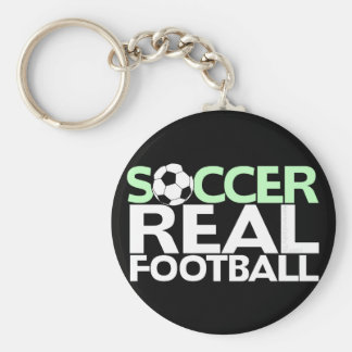 Soccer=Real Football Basic Round Button Key Ring