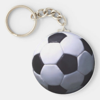 Soccer Real Football Basic Round Button Key Ring