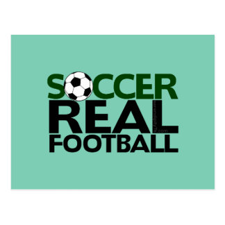 Soccer=Real Football Postcard