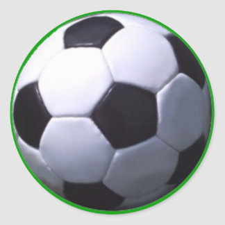 Soccer Real Football Round Sticker