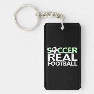 Soccer=Real Football Single-Sided Rectangular Acrylic Key Ring