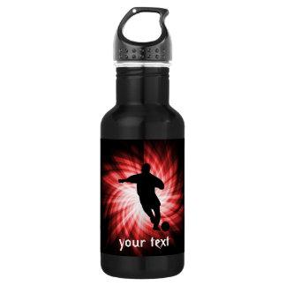 Soccer; red 532 ml water bottle