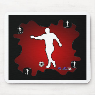 SOCCER RED BACKGROUND PRODUCTS MOUSE PAD