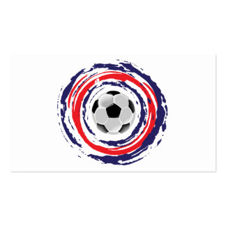 Soccer Red Blue And White Pack Of Standard Business Cards