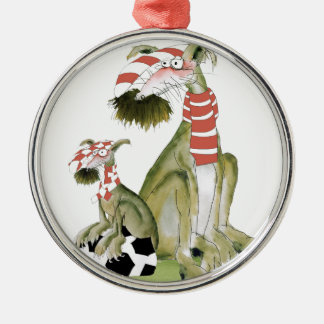 soccer reds, like father like son christmas ornament