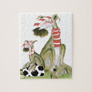 soccer reds, like father like son jigsaw puzzle