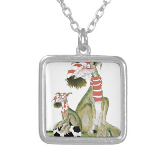 soccer reds, like father like son silver plated necklace