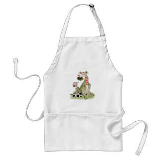 soccer reds, like father like son standard apron