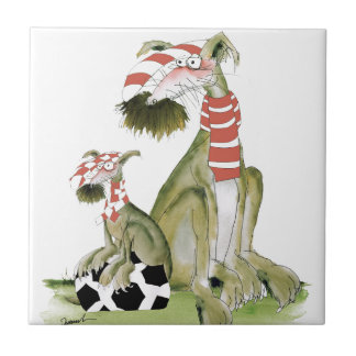 soccer reds, like father like son tile