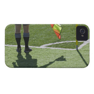 Soccer referee holding flag. iPhone 4 Case-Mate case
