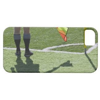 Soccer referee holding flag. iPhone 5 case